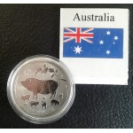 Australia Lunar Series 2 government issued silver bullion coins
